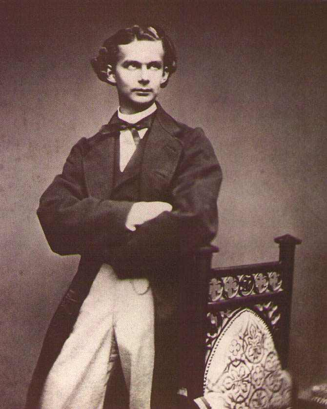 Portrait of Ludwig II of Bavaria in 1864