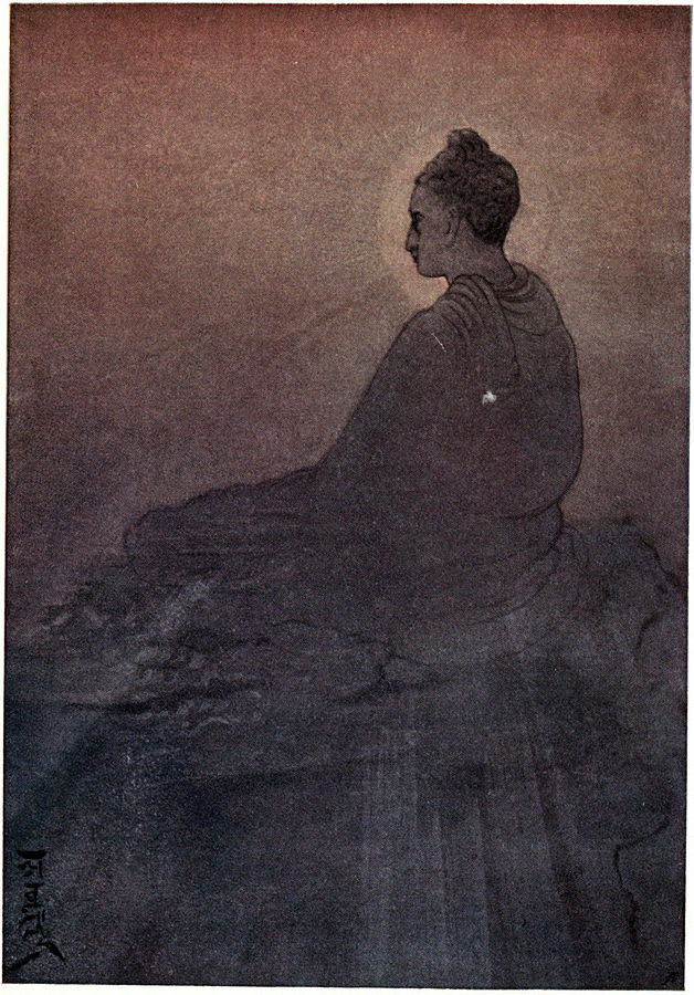 "Myths of the Hindus & Buddhists (1914): Frontispiece ""The Victory of Buddha"" by Abanindranath Tagore"