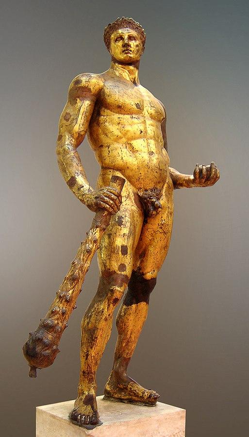 Bronze statue of Heracles
