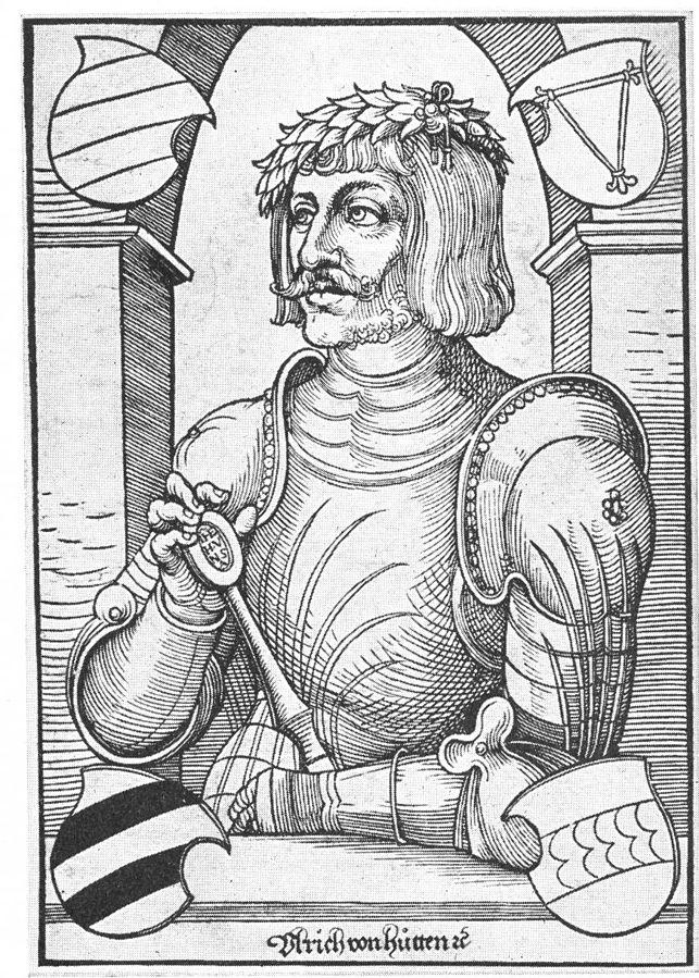 Woodcut of Ulrich von Hutten