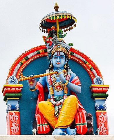 Statue of Krishna in Singapore