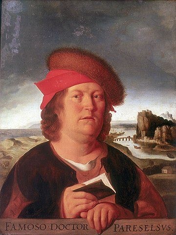 "The Louvre copy of the lost portrait by Quentin Matsys, source of the iconographic tradition of ""fat"" Paracelsus.["