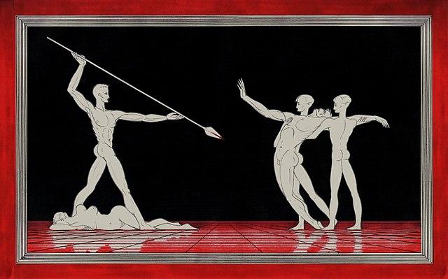 """Act 3: """"Nur eine Waffe taugt"""" (by Arnaldo dell'Ira, c. 1930)"""