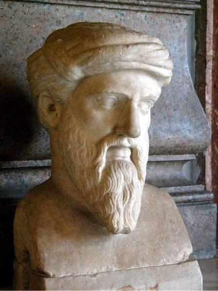 Bust of Pythagoras. Roman copy of a Greek Original.